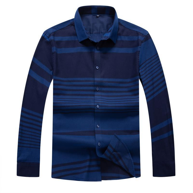 Autumn Winter 8XL 6XL 5XL 4X Men Dress Shirts Brand Clothing Fashion Camisa Social Casual Men Shirt Slim Long-Sleeve Masculina