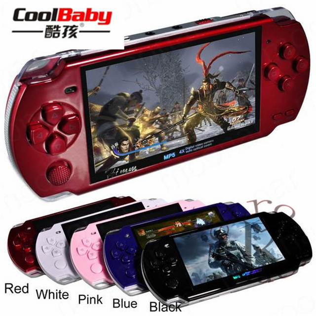 2019 Nieuwe Ingebouwde 5000 Games, 8Gb 4.3 Inch Pmp Handheld Game Speler MP3 MP4 MP5 Player Video Camera Fm Portable Game Console