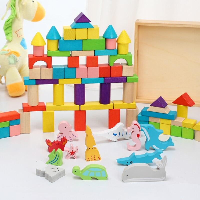 Kinder bausteine spielzeug holz montage bausteine tier baby 2 6 jahre alt intelligenz spielzeug - 4
