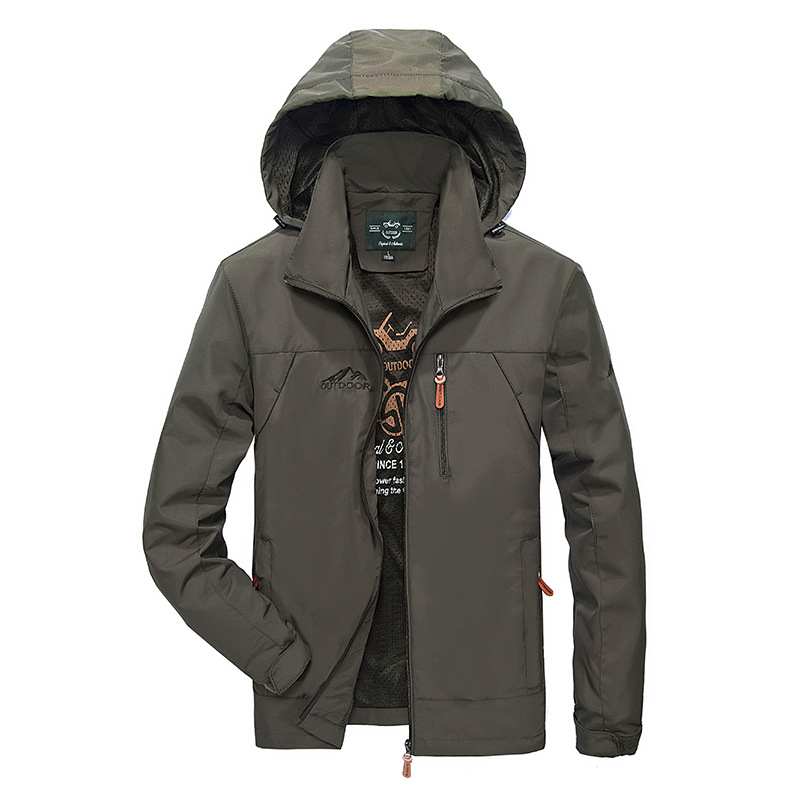 New Style Men Autumn And Winter Raincoat Jacket Outdoor Casual Windproof Breathable Mountain Climbing Clothes