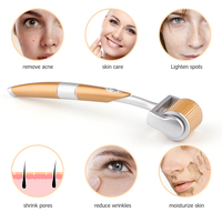 Gold Titanium Face Roller for Face Exfoliating Skincare Professional Anti Hyperpigmentation Micro-needle Beauty Care Tools 1