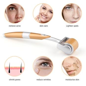 Gold Titanium Face Roller for Face Exfoliating Skincare Professional Anti Hyperpigmentation Micro-needle Beauty Care Tools 1