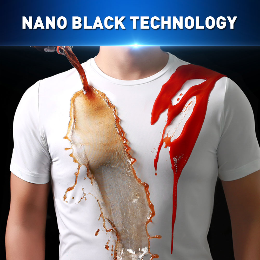 Waterproof Women T Shirt In Kitchen Hydrophobic Stainproof Breathable Antifouling Quick Dry Short Sleeve T Shirt Men Plus Size
