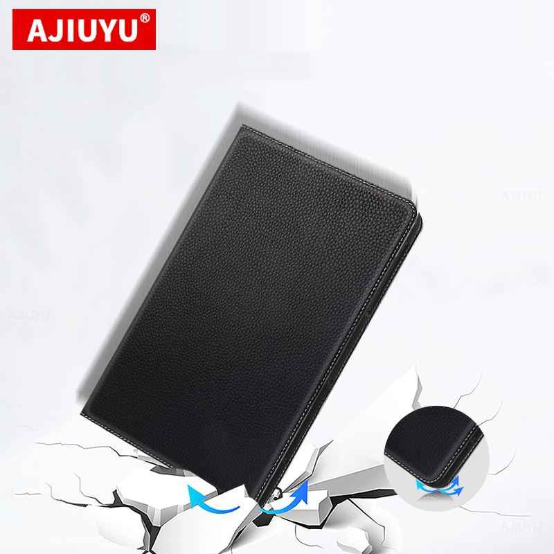 "Case Kulit Sapi Untuk Huawei MatePad T10S 2020 AGS3-W09 AGS3-L09 10.1 ""Tablet PC Pelindung Cover Kulit Asli Stand Cover case"