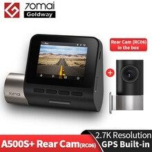 2021 versão de atualização 70mai pro plus + a500s traço cam embutido gps adicionar câmera traseira rc06 2.7k velocidade coordenadas adas a500 s carro cam