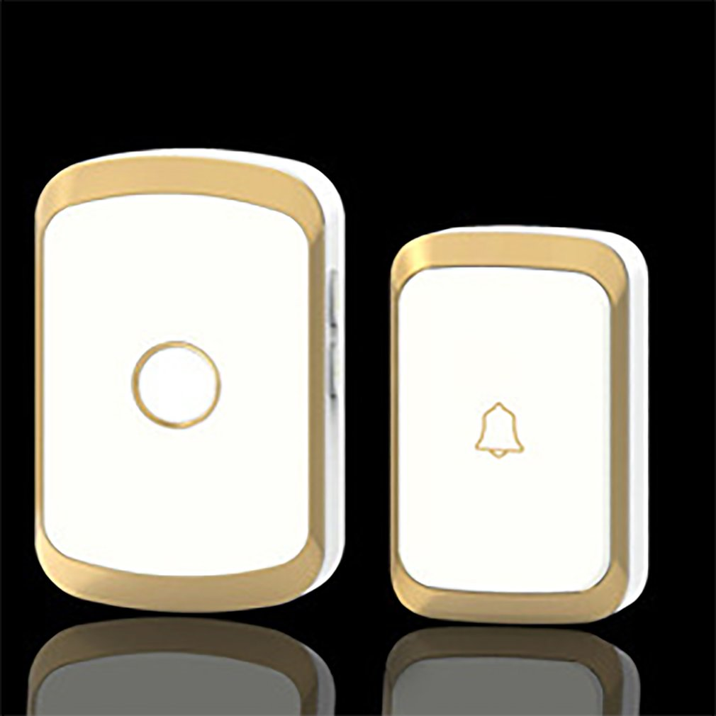 CACAZI Black/gold/silver Wireless Doorbell Waterproof AC 110-220V 300M Remote Door Bell 36 Melody 4 Volume Ring Bell Door Chime