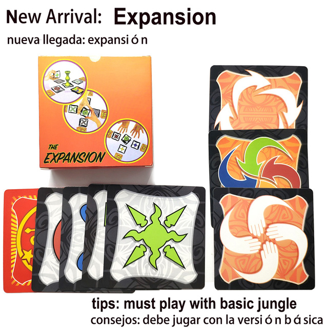 2020 jungle board game brown wood token run fast pair forest speed for friend family party