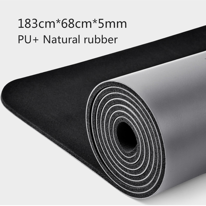 Natural Rubber PU Material Two-color Yoga Mat Three-piece With Positioning Line Non-slip Tasteless Widened Pilates 183*68*0.5cm