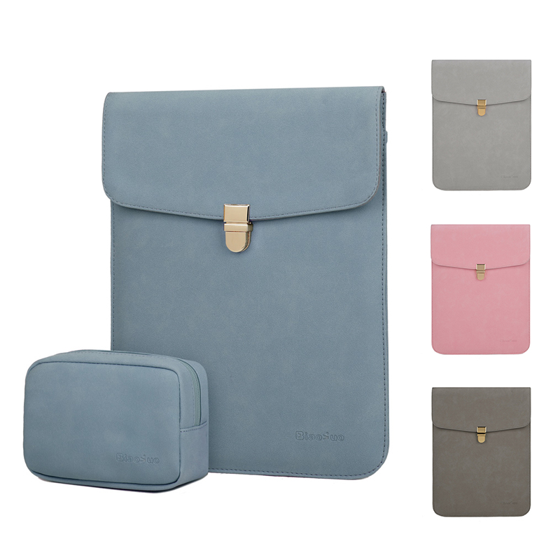 Soft PU Leather Laptop Sleeve For Macbook Air Pro 11 12 13.3 14 <font><b>15</b></font> inch Laptop Bag Notebook Tablet Case 13 For Xiaomi <font><b>Asus</b></font> Cover image