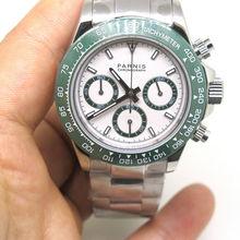 39mm Parnis casual fashion luxury Movement quartz sapphire glass men's chronograph