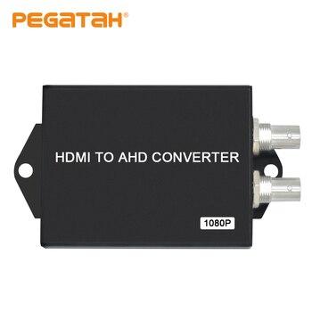 Nuevo convertidor de vídeo hd con 2 canales BNC AHD out puerto HDMI 1 CH HDMI en puerto HDMI a AHD convertidor de vídeo para cámara CCTV