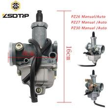 Zsdtrp para keihin pz26 pz27 pz30 carburador da motocicleta caso para honda cg125 cg150 cg250 ttr250 para pz carb