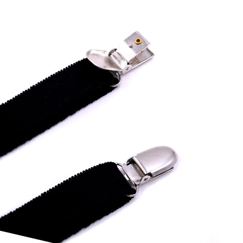 Fashion Men Shirt Stays Garter Suspenders Holder Elastic Y Shape Adjustable Uniform Locking Clamp Braces Shirts Garters SER88