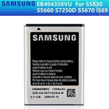 SAMSUNG batería Original EB494358VU para Samsung Galaxy Ace S5830 S5660 S7250D S5670 i569 I579 GT S6102 S6818 GT S5839i, 1350mAh