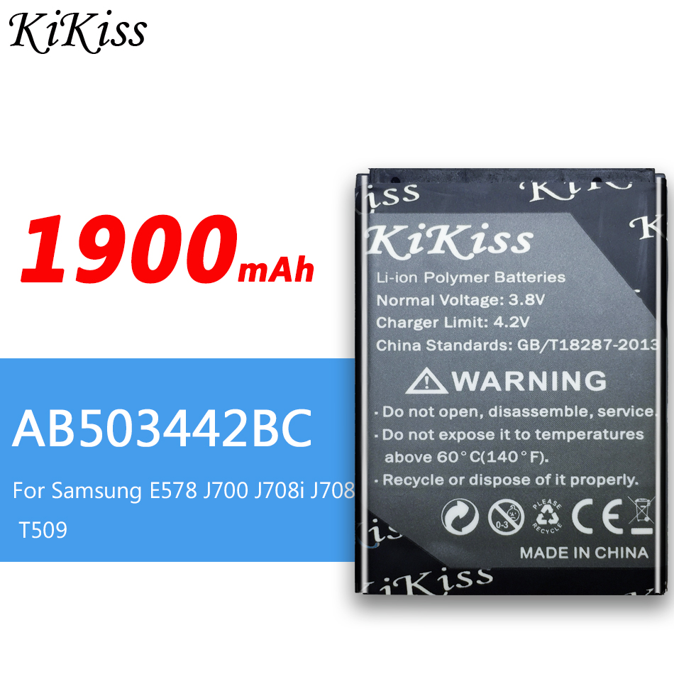 1900mAh Big Power Battery for <font><b>Samsung</b></font> SGH-B110 <font><b>E570</b></font> E578 J700 J700i J700v J708 E578 J700 J708i J708 T509 Battery AB503442BC image