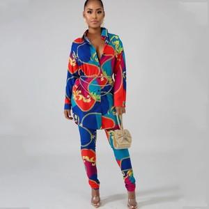 Image 1 - 2 sztuka zestawy afryki zestawy dla kobiet nowy afryki druku elastyczna Bazin workowate spodnie Rock styl Dashiki rękaw znane garnitur dla pani