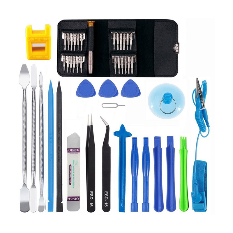 Professional 45 in 1 Mobile Phone Screen Opening Repair Tools Kit Screwdriver Pry Disassemble Tool Set|Phone Repair Tool Sets| |  - title=