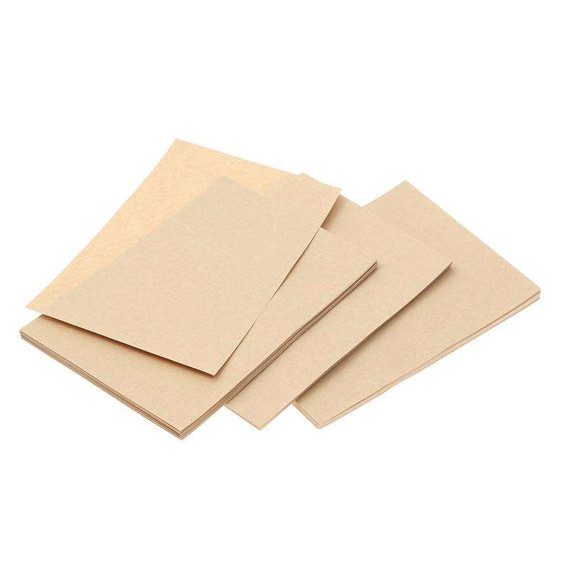 3 Set of 150pcs A4 Vintage Kraft Writing Paper Retro Note Paper Letter Stationery Paper for Home Office School