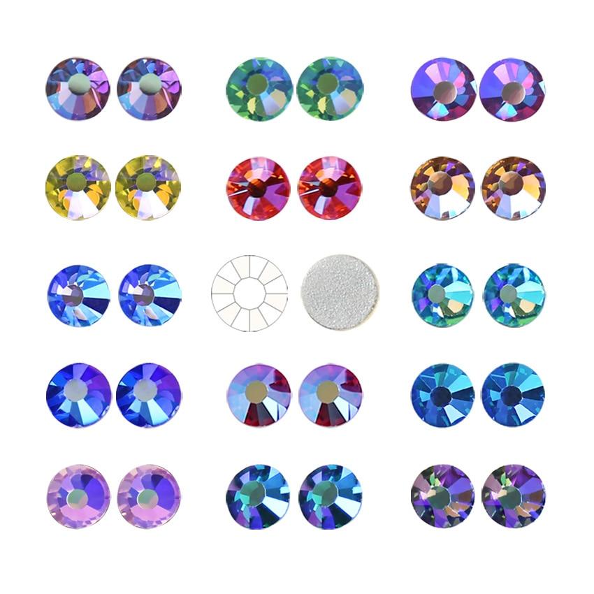 Stunning ungewöhnliche qualität! Multi farben kristall AB SS12-SS30 Nicht Hot Fix Strass flache rückseite strass nagel glitters bekleidungs stein