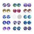 Потрясающее необычное качество! Разноцветные Кристальные разноцветые SS12-SS30 не требуют горячей фиксации стразы с плоской задней частью Стр...