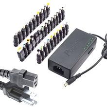 34Pcs 범용 전원 어댑터 96W 12V 24V 조정 가능한 휴대용 충전기 델 도시바 Hp 아수스 에이서 노트북 미국 플러그