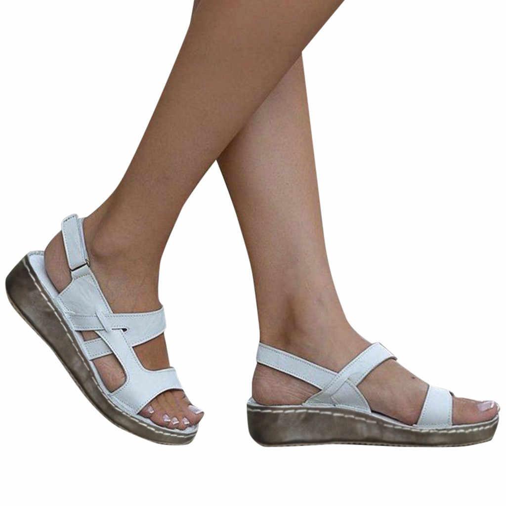 Weibliche Sommer Loafer Schuhe Winter Schuhe frauen Damen Sommer Aushöhlen Keil Schnalle Sandalen Casual Schuhe женская обувь #11035