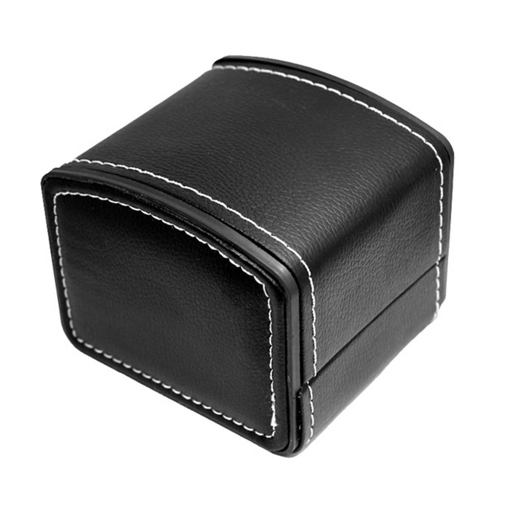 Fashion Watch Box Faux Leather Square Jewelry Watch Case Display Gift Box With Pillow Cushion Portable Watch Organizer Case 2019