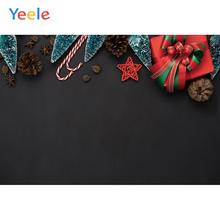 Yeele Custom Vinyl Gift Box for photo studio Photography Backdrop photographic Background Photo Studio nostalgic style flax cloth photography background accessories for fruit food tabletop shooting studio photo backdrop decorations
