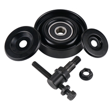 Koło pasowe napinacza paska ze stali nierdzewnej czarne dla Hyundai Accent Tiburon Elantra Kia Rio dla Kia Soul 2 0L 2010-2011 tanie tanio H2CNC China Steel Steel Belt Tension Pulley Brand new Black 97834-29010 Fit for Hyundai Accent 1995-2001 Fit for Hyundai Accent SE 2010-2010