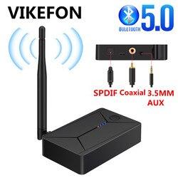 Fibre optique coaxiale SPDIF Bluetooth adaptateur 3.5mm AUX RCA stéréo sans fil Bluetooth 5.0 transmetteur Audio pour TV PC casque
