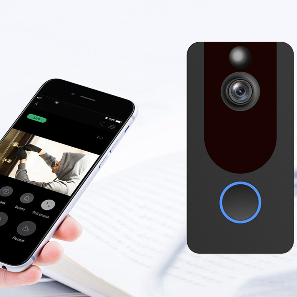 V7 HD 1080P Smart WiFi Video Doorbell Camera Visual Intercom With Chime Night Vision IP Door Bell Wireless Security Camera