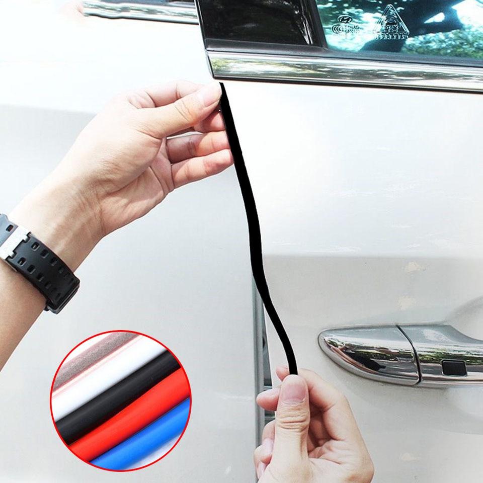 5 M/Set Scratch Protetor de Borda Da Porta de Carro de Borracha Anti Collision Scratch Proteção Tiras de Borracha de Vedação Da Porta Do Carro Adesivo
