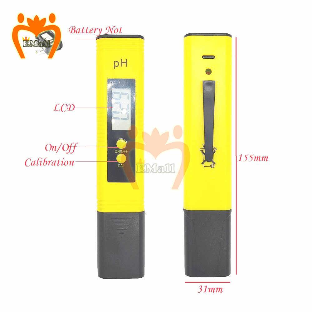 Цифровой тестер качества воды + аккумулятор TDS EC 0,0-14,0 PH тестер температуры er 0-9990 монитор чистоты воды температура PPM