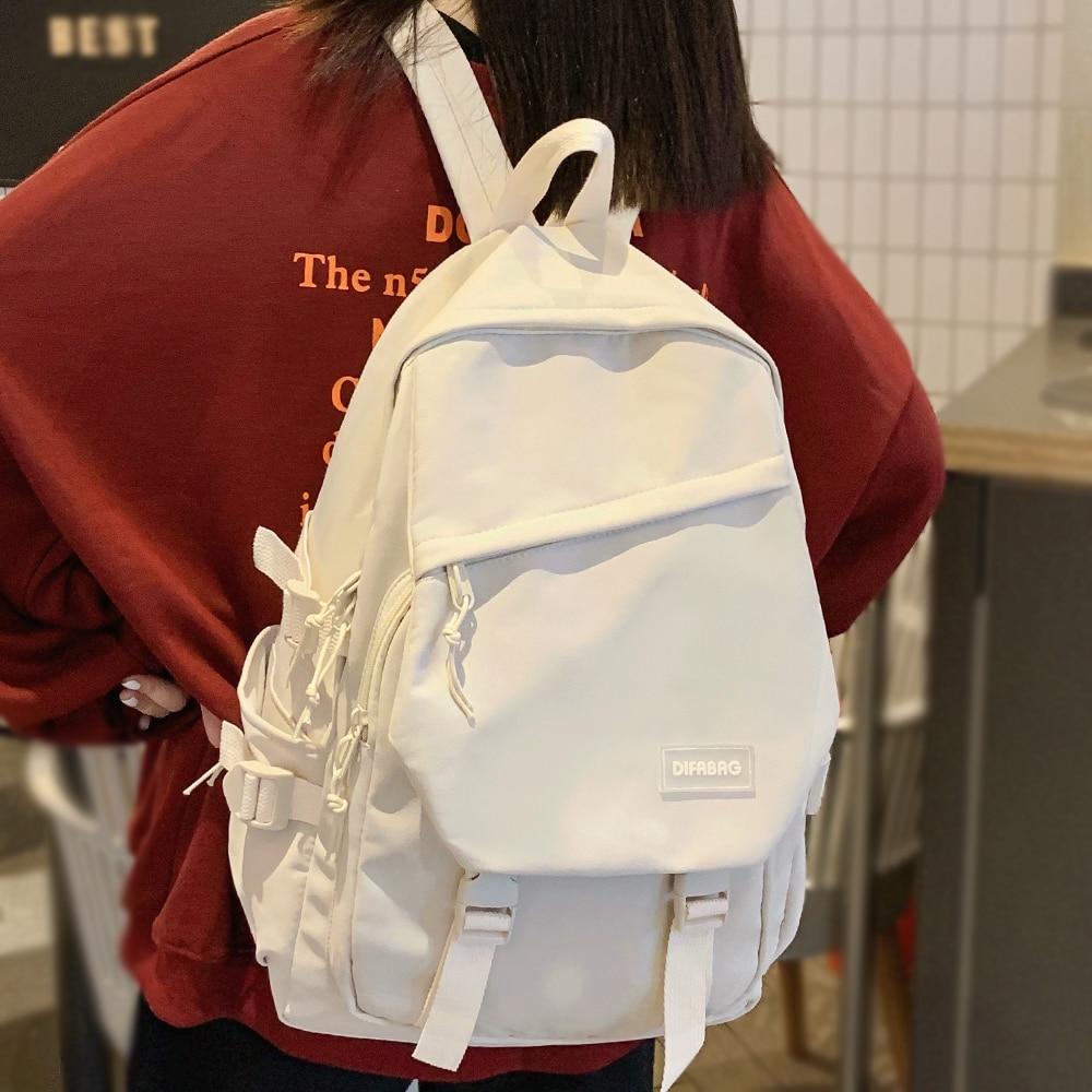 Bonito das mulheres na moda mochila legal náilon feminino saco de escola faculdade livro senhora portátil mochila kawaii moda menina estudante saco viagem