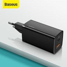 Chargeur USB C Baseus 65W GaN double Port USB chargeur Charge rapide 4.0 3.0 Type C PD chargeur de Charge rapide pour iPhone ordinateur portable tablette
