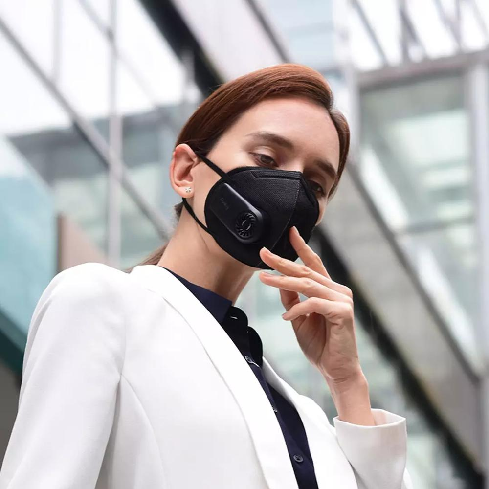 Purely Anti-Pollution Air Flow Mask Fresh Version PM2.5 Breathable Rechargeable Filter With Fan For Sport For Adults