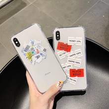 New simple fashion cool label barcode couple phone case for iphone 11 pro MAX Xs MAX XR X 6 6s 7 8 plus fun soft TPU back cover new iphone case for iphone 11 for iphone11 pro max 5 8 inches 6 1 inches 6 8 inches 6 6s 7 8 plus ix xr max x fashion back cover