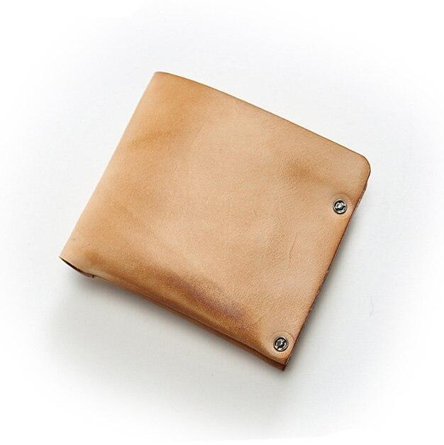Original Designer Genuine Leather Handmade Wallet Men Simple Style Minimalist Wallet Bifold Walet