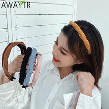 Awaytr резинки для волос с узлом однотонные Цвета крест повязка