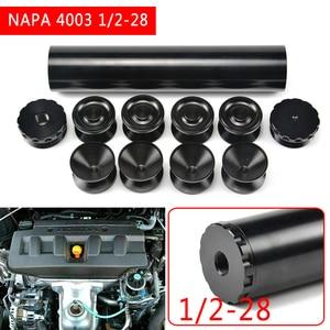 Image 5 - Pcmos 1/2 28 エンドキャップ燃料フィルター燃料トラップ溶剤フィルター 1.75 インチ od ナパ 4003 wix 24003 6061 T6 自動車フィルターカップ
