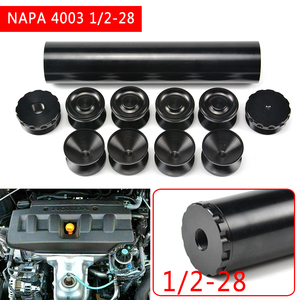 Image 5 - pcmos 1/2 28 End Cap Fuel Filters Fuel Trap Solvent Filter 1.75 inch OD For NAPA 4003 WIX 24003 6061 T6 Automobiles Filters Cups