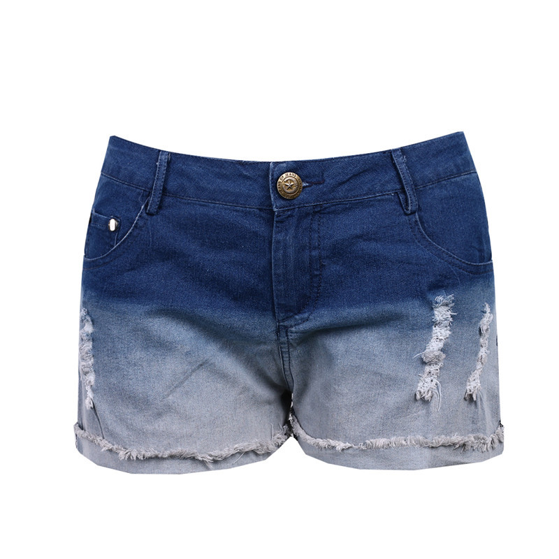 Hot Sale Fashion Summer Ripped Womens High Waisted Denim Women Shorts Hot Sexy Casual Ladies Shorts Plus Size