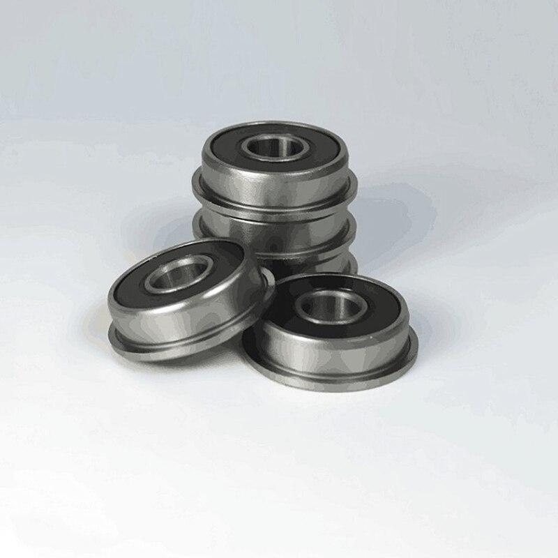 BLACK 8x16x5 mm Flange Rubber Sealed Ball Bearing F688RS 20 PCS F688-2RS