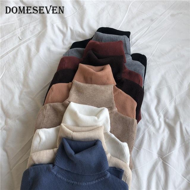 Basic Turtleneck Women Sweaters 2020 Autumn Winter Tops Korean Slim Women Pullover Knitted Sweater Jumper Soft Warm Pull Femme