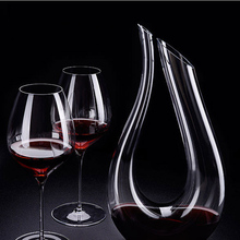 Swan U Shape Wine Decanter Design Snail Style Decanter Red Wine Carafe1500ml Lead Free Glass Decanter Superior Wine Aerator itop handmade household red wine decanter wood decanter 6 seconds wine processors with battery
