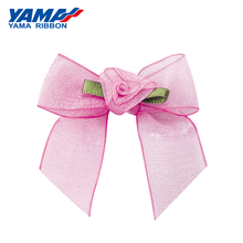 YAMA Wide 46mm±3mm High 42mm±3mm Shape Hand Bow 200pcs/bag Ombre Organza Gold Silver Edge Satin Taffeta Ribbon for Kids Gifts