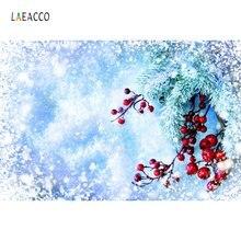 Laeacco Рождество Зима Снег ветка сосны фотография фоны индивидуальные