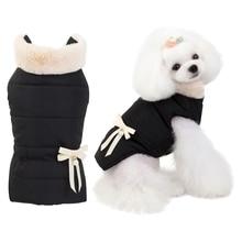 Зимняя одежда для собак, утолщенный флисовый воротник, пальто для собак для маленьких собак, теплое ветрозащитное хлопковое Стеганое пальто для питомцев, куртка для щенка