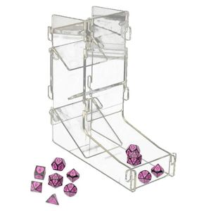 DND Acrylic Transparent Dice Tower DIY Board Game RPG Rolling Tower MTG Games 27RD(China)