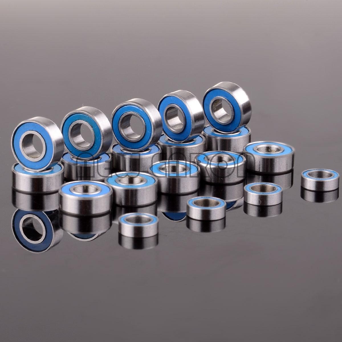 19 штук хромированные Сталь шариковый подшипник метрических синий резиновое запечатанное с двух сторон дикое Bandit комплект для RC Traxxas Slash 2WD Н...